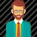 account, accountment, avatar, beard, business, businessman icon