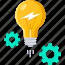 brain, business, creative, gear, idea, team icon
