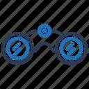 binocular, binoculars, spyglass icon