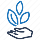 business, leaf, startup icon