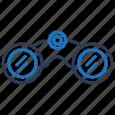 binocular, binoculars, explore, spyglass icon