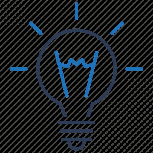 business, idea, innovation, light icon