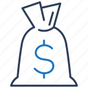 bag, finance, loan, money icon