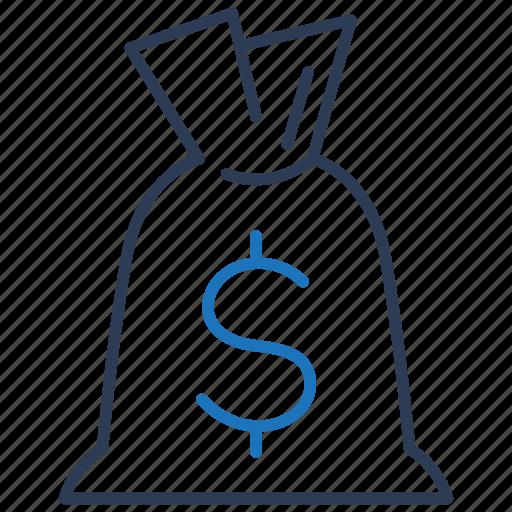 Bag, money, finance, loan icon - Download on Iconfinder
