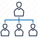 business, hierarchy, organization, structure icon