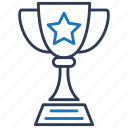 achievement, champion, trophy, win icon