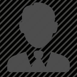 broker, business, businessman, man, suit, tie, user icon