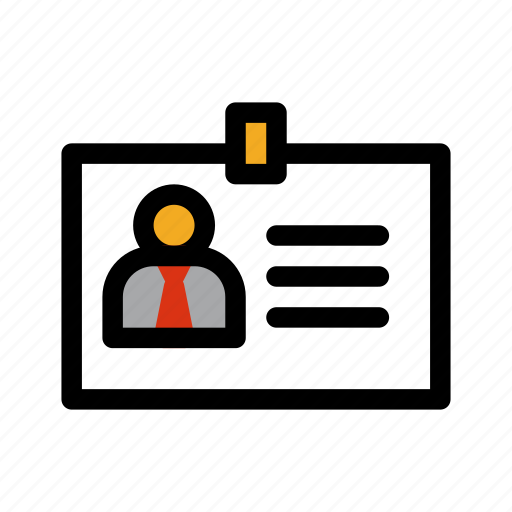 badge, business, card, worker icon