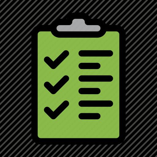 checklist, list, success, tasks icon