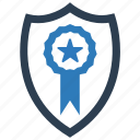 achievement, agreed, approval, approve, award, protection, shield icon