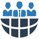 business, communication, conference, global, group, teamwork icon
