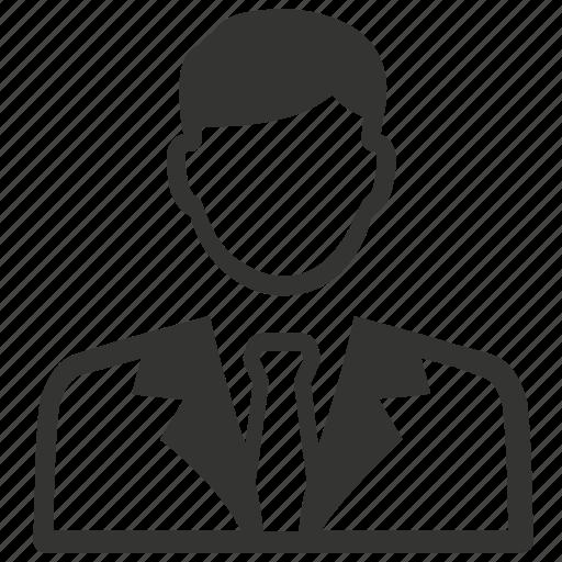 businessman, man, user icon