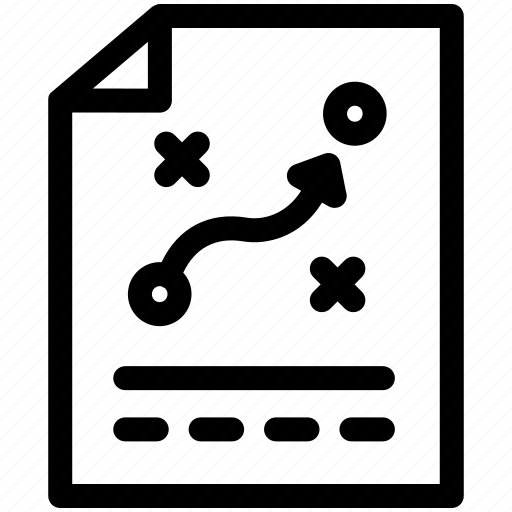 business, document, management, paper, stretegy, tactics icon