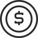 25px, coin, iconspace, money icon