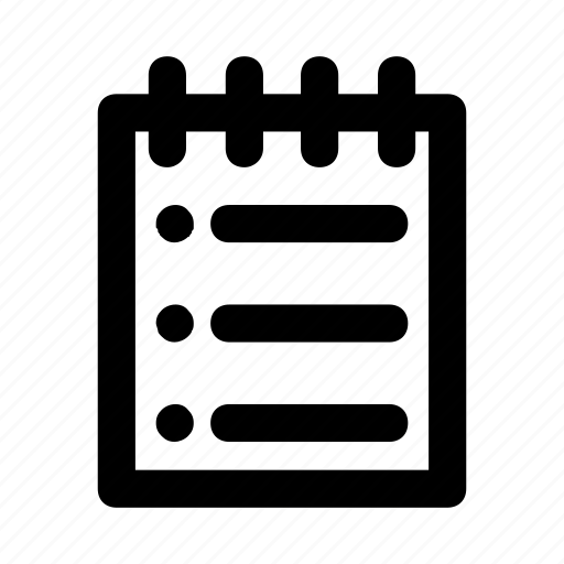 list, menu, notepad, notes, write icon