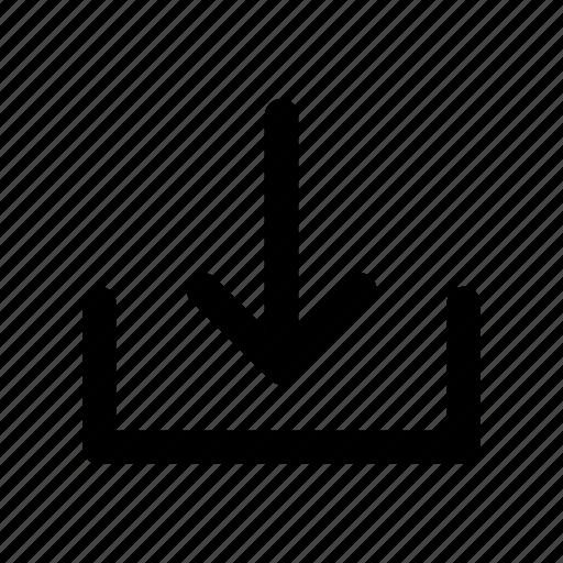 arrow, download, file, receiving, save icon