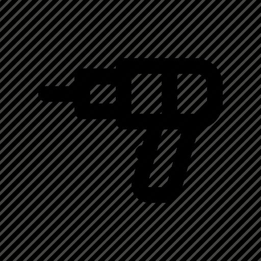 building, drill, machine, rock, tool icon