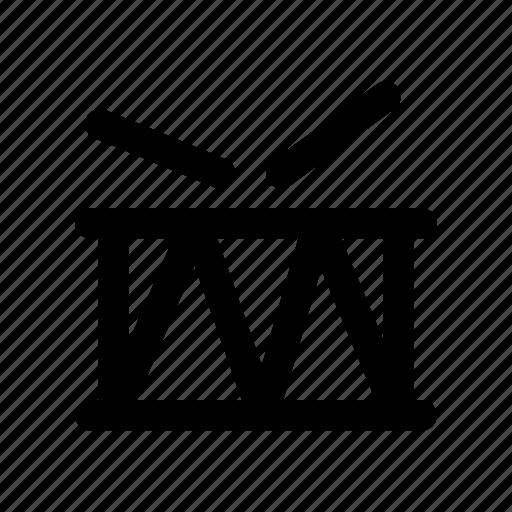 drum, instrument, music, sound, stick icon
