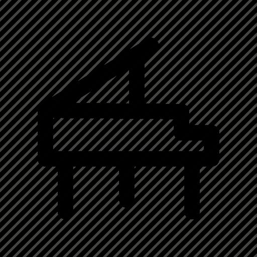 instrument, key, music, piano, sound icon
