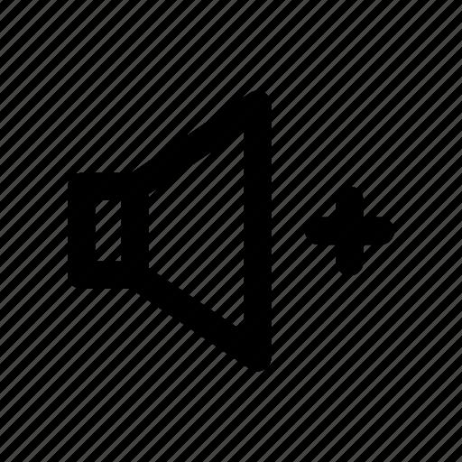 add, high, sound, speaker, volume icon