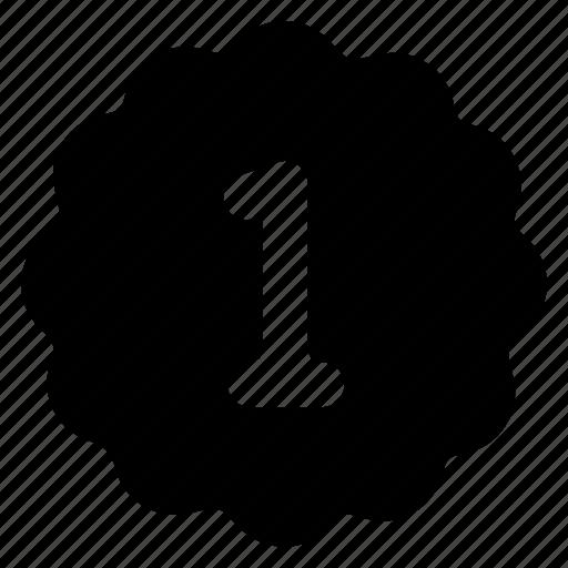 business, emblem, one, winner icon