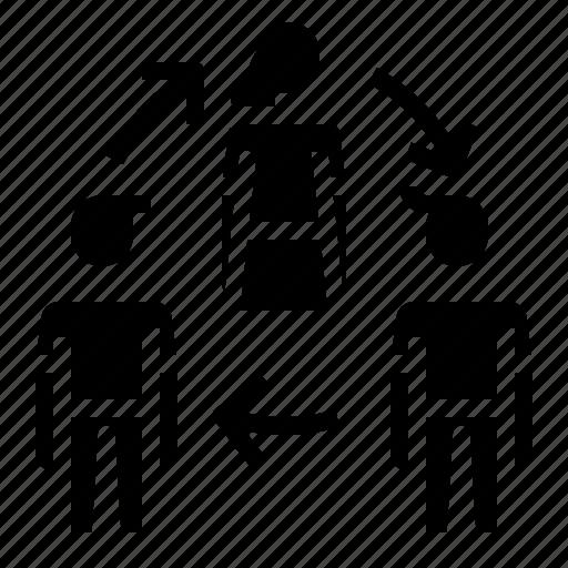 business, rotate, rotation, team icon