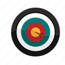 bullseye, hit, mark, sales, target icon