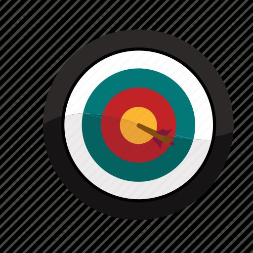 bullseye, hit, mark, sales, target icon
