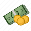 bills, buisness, cash, coins, money icon