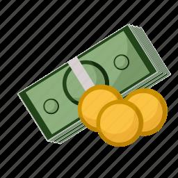 bills, buisness, cash, coins, money icon