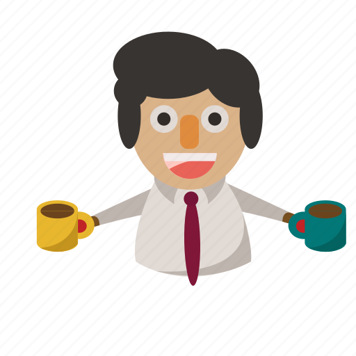 avatar, business, coffee, greeting, man, welcome icon