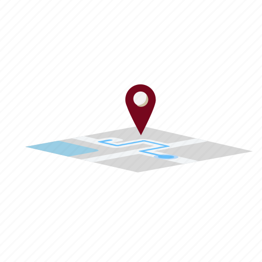 location, navigation, place, route icon