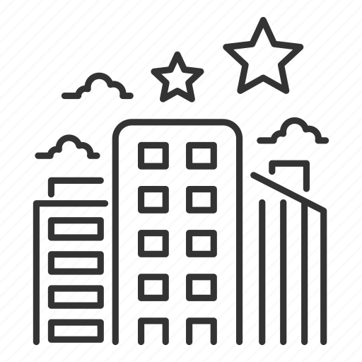 building, business, city, office, star, workplace icon