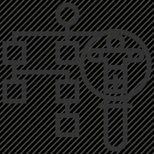 business, concept, finance, flowchart, management, marketing, strategy icon