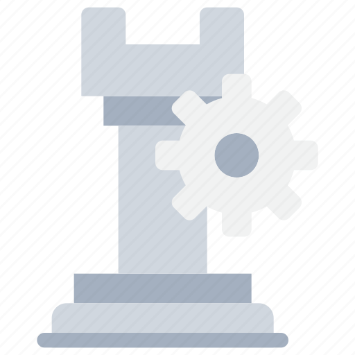 business, chess, gear, management, planning, process, strategy icon