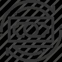 arrow, donation, flow, money, recycle, revenue, savings icon
