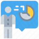 analytics, business, company, data, people, presentation, report icon