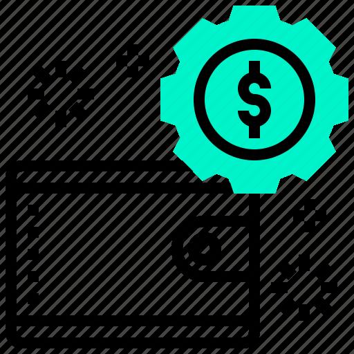cash, cashflow, money, wallet icon