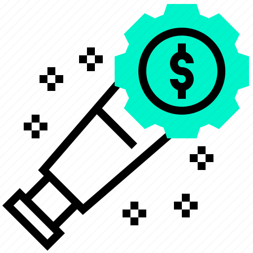 forecast, money, search, vision icon
