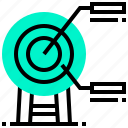 analysis, goal, planing, target icon