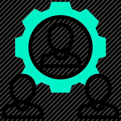 allocation, resource, search, team icon