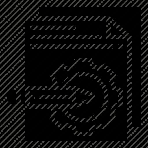 condition, document, paper, pencil icon