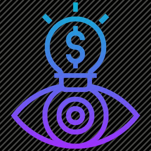 business, creative, eye, idea, search, vision icon