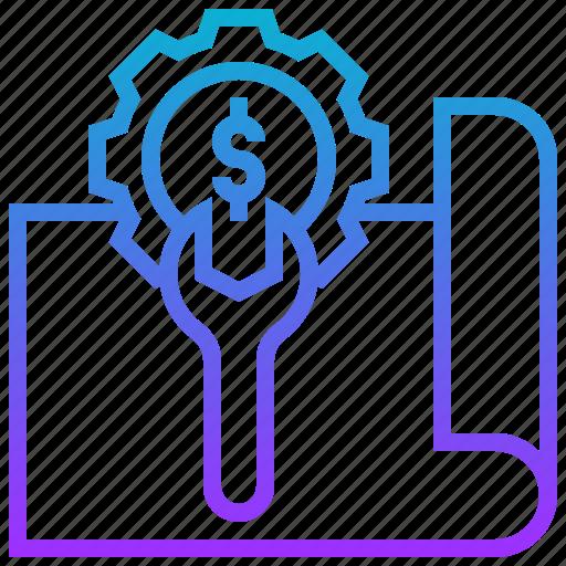 document, money, setup, strategy icon