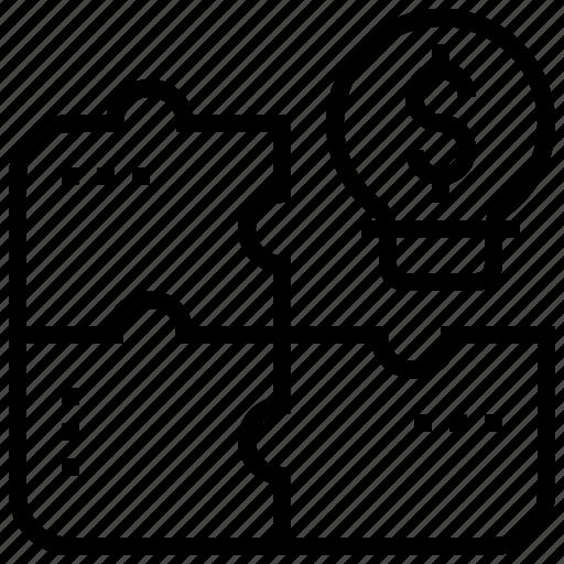 idea, jigsaw, puzzle, solution, solve icon