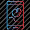 analytics, app, data, mobile, report icon