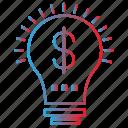 bulb, dollar, financial