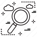 business, finance, magnifier, search icon