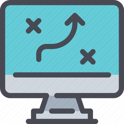 business, computer, marketing, planning, strategy icon
