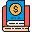 book, business, color, finance, financial, literature, strategy icon